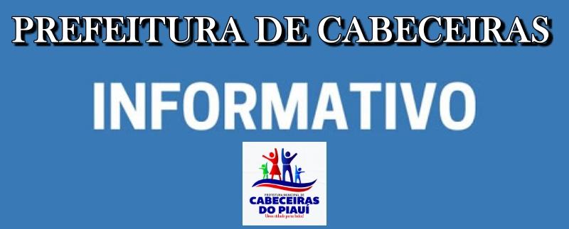 Prefeitura de Cabeceiras informa sobre processo seletivo da secretaria de educação