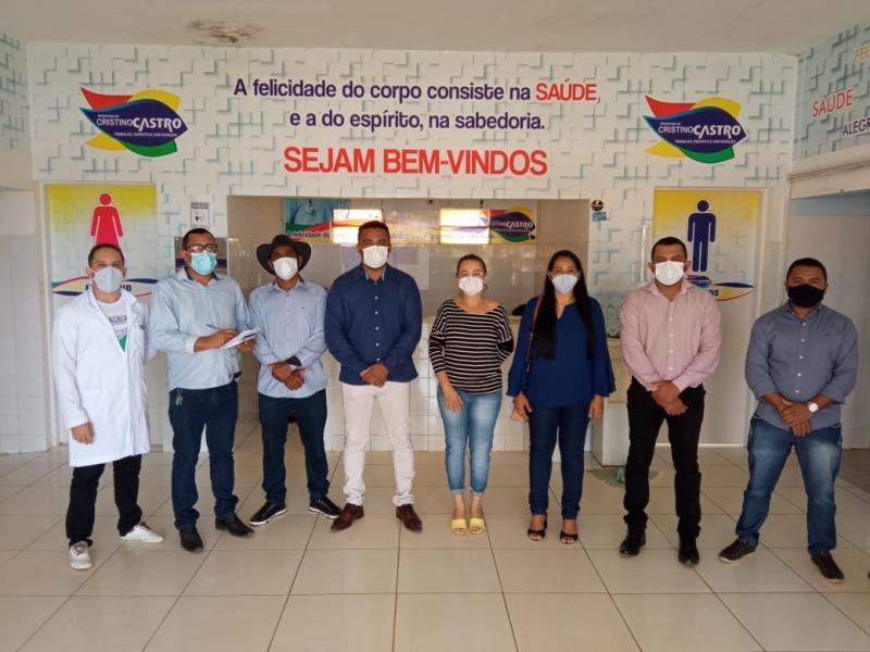 Vereadores de Cristino Castro realizam vistorias  em Unidades de Saúde e Hospital