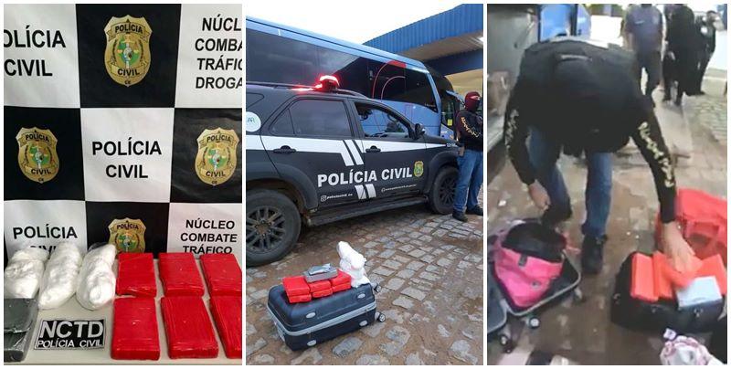 Piauiense é presa com drogas em ônibus da Guanabara no Ceará