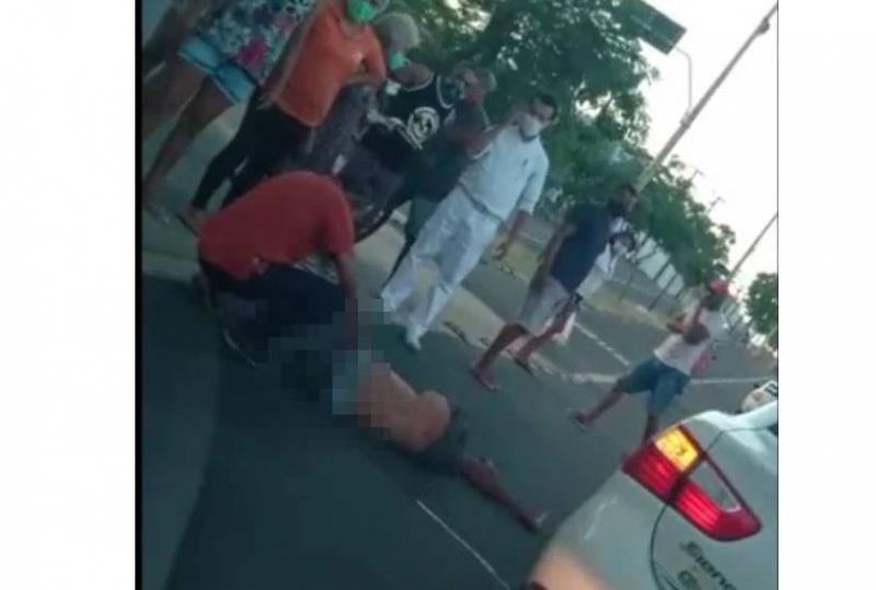 Idoso morre após ser atropelado na Avenida Duque de Caxias em Teresina