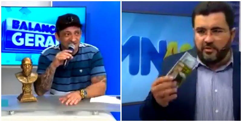 Apresentadores Beto Rego e Luiz Fortes questionam morte de Eugênio Primeiro na TV