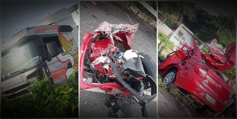 Motorista morre ao colidir veículo com carreta na BR 343, no Piauí