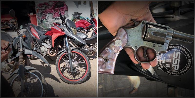 Operação da PM apreende motos adulteradas em oficina de Teresina e prende duas pessoas