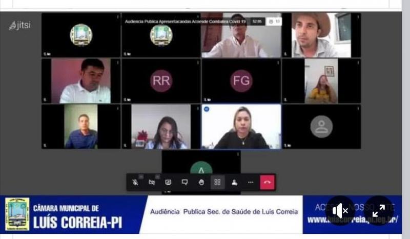 Município de Luís Correia faz balanço das ações de combate à pandemia na Câmara de Vereadores