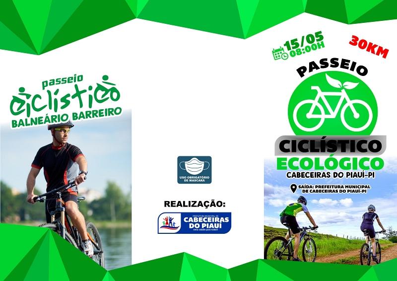 Prefeitura de Cabeceiras irá promover PASSEIO CICLÍSTICO ECOLÓGICO, no dia 15 de Maio
