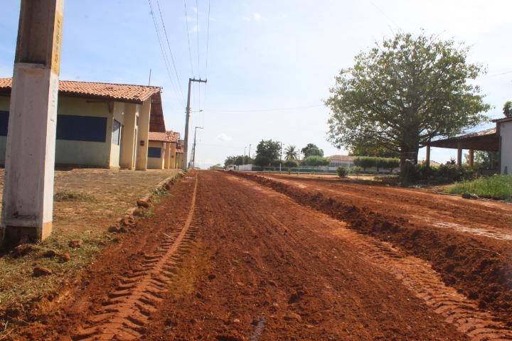 Colônia do Gurgueia: Rua Arias de Sá Coutinho recebeu planeamento com cascalho