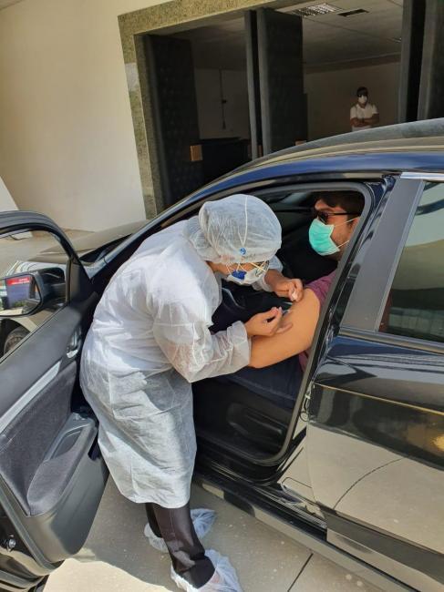 Teresina terá drive thru para vacinação de idosos dentro dos carros a partir desta quarta (25)