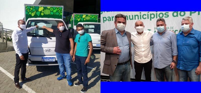 Prefeito Zé Filho recebe caminhão do Ministro da Cidadania para Agricultura de Cabeceiras do Piauí