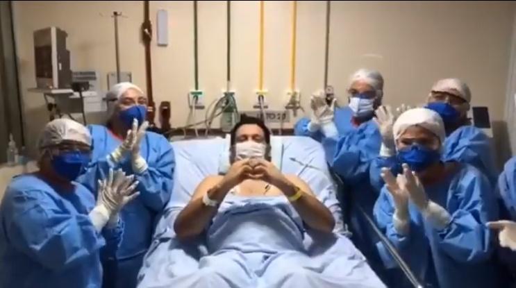 Após melhora Marcelo Magno grava vídeo da UTI