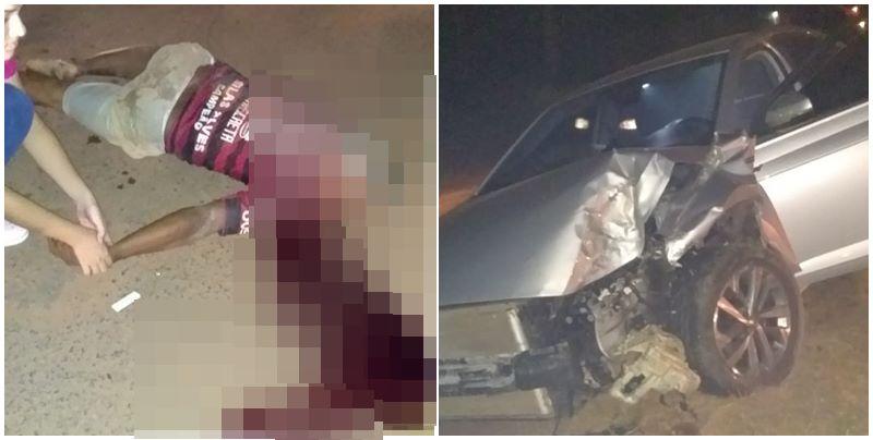 Idoso morre após ser atropelado por veículo desgovernado em Timon; Placas de Teresina