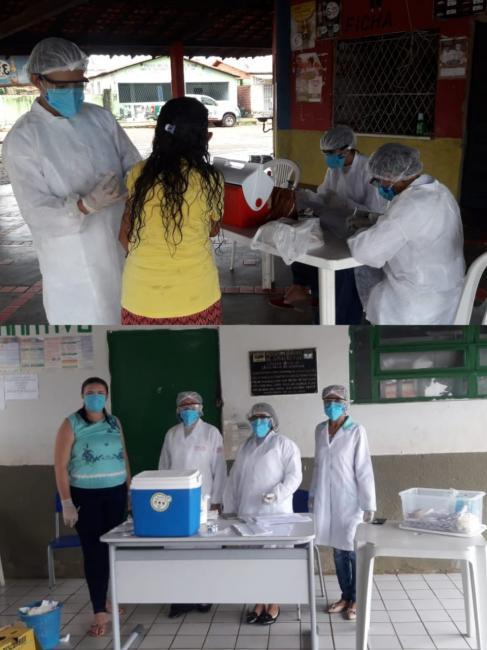 Secretária de saúde inicia campanha de vacina para idosos em Jatobá-Pi