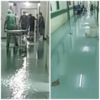 Hospital Regional no Sul do Piauí fica alagado após forte chuva