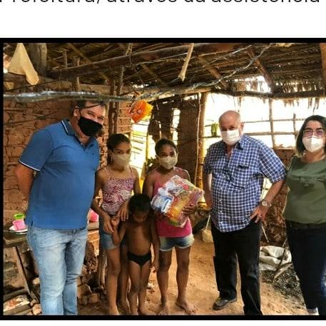 Prefeitura de União em parceira com a COMVAP (Grupo Olho D'água) realiza distribuição de cestas bási
