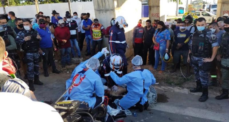 Motociclista é perseguido e executado a tiros no viaduto da Tabuleta em Teresina