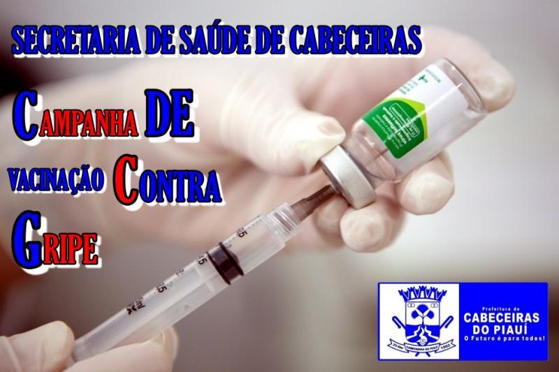 Secretaria de Saúde de Cabeceiras inicia 1ª fase da campanha de vacinação contra gripe