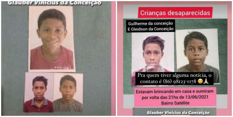 Câmera flagra momento em que 3 crianças fogem de casa em Teresina