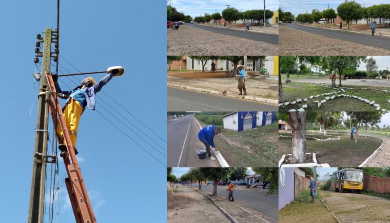 Prefeitura de Cabeceiras segue com ações de limpeza e manutenção na iluminação pública