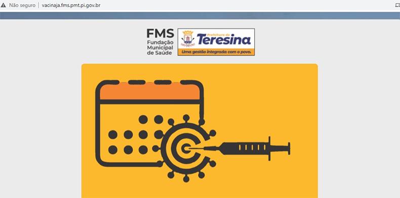 FMS abre novo agendamento hoje(18) para vacinação contra a covid-19 em Teresina