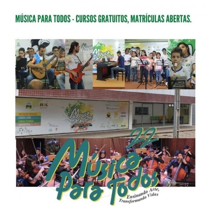 Projeto Música Para Todos abre inscrições para novos alunos