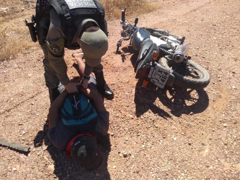 Moto roubada em Monte Alegre é recuperada na BR-135 em Redenção do Gurguéia
