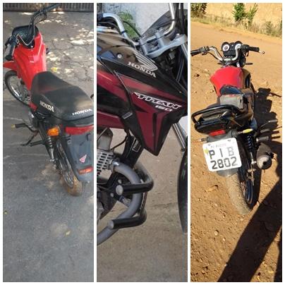 PM recupera três motocicletas com registro de furto/roubo em Picos