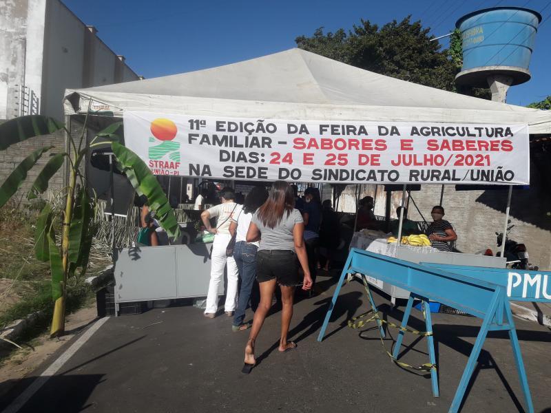 Sindicato dos trabalhadores rurais de União realizaram a 11ª feira de saberes e Sabores.