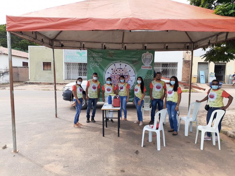 Prefeitura de Redenção do Gurguéia monta tenda para orientar população