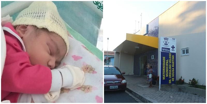 Jovem descobre gravidez horas antes de bebê nascer em maternidade de Teresina