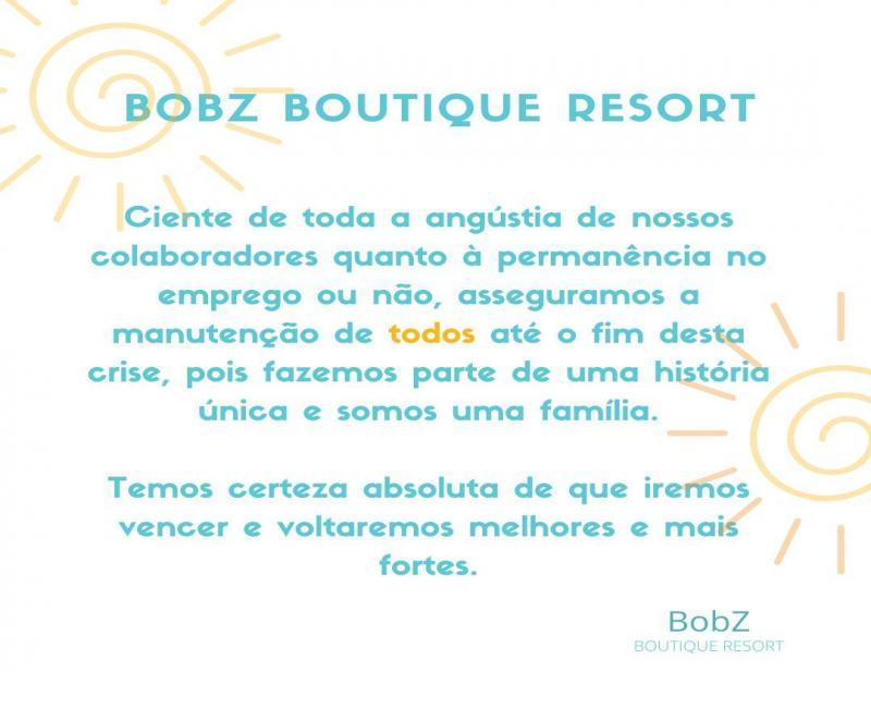 Mensagem do BobZ Boutique Resort para todos seus colaboradores