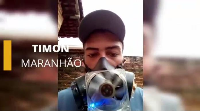 Estudante desenvolve respirador com objetos de casa em Timon; veja vídeo