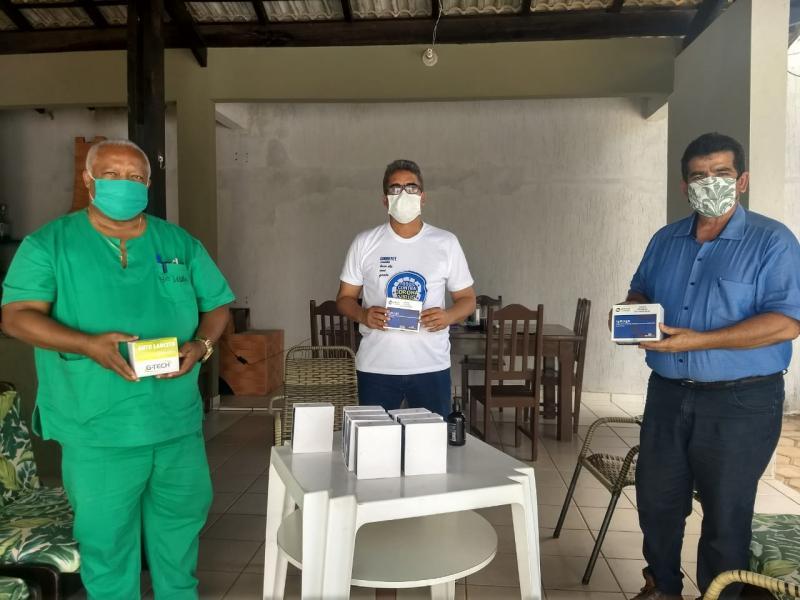 Secretaria de Saúde de Cristalândia recebe doação de 100 testes para o novo coronavírus.