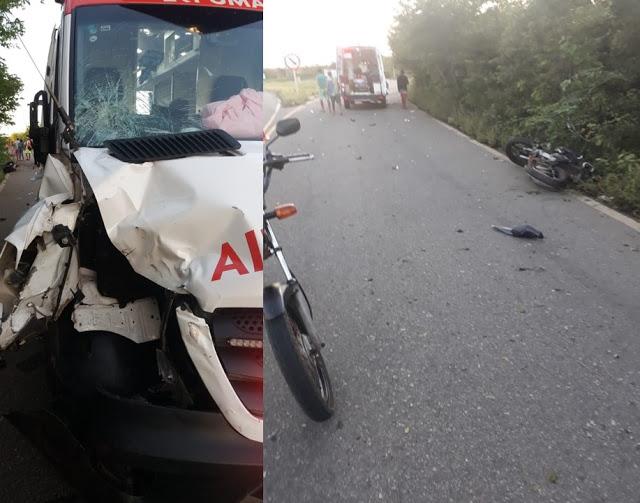 Acidente na PI-211 envolvendo SAMU do município de Buriti dos Lopes deixa uma vítima fatal