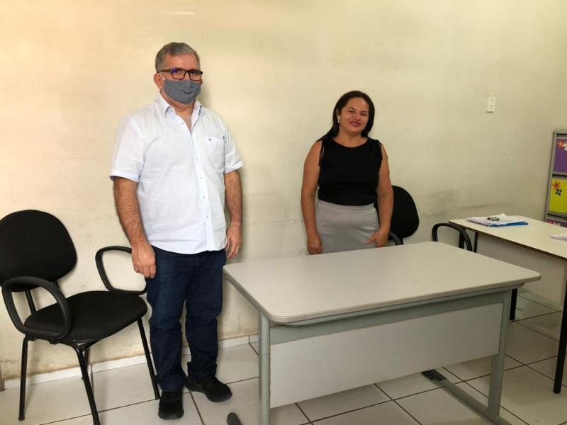 Uniao tem Nova secretária de Educação Depois da prisão do secretário na operação Delivery.