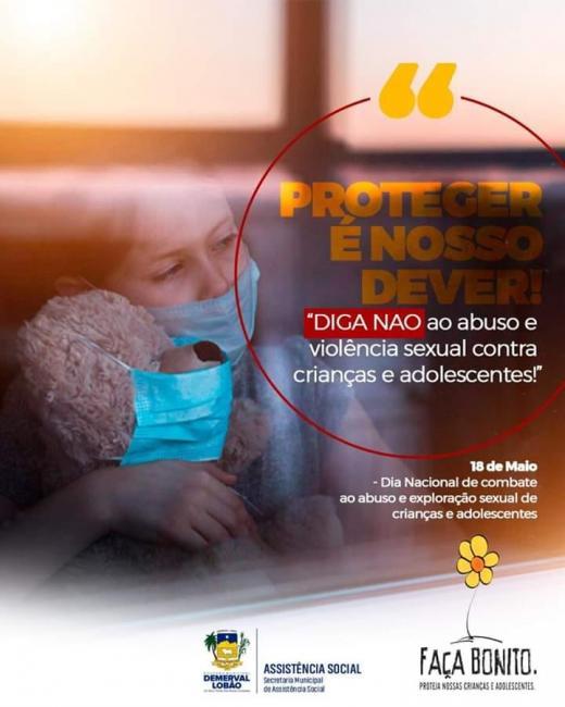 Demerval Lobão contra o abuso sexual contra crianças e adolescentes