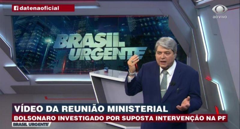 Datena rompe com Bolsonaro após ver vídeo de reunião: 'nunca mais faço entrevista com ele'