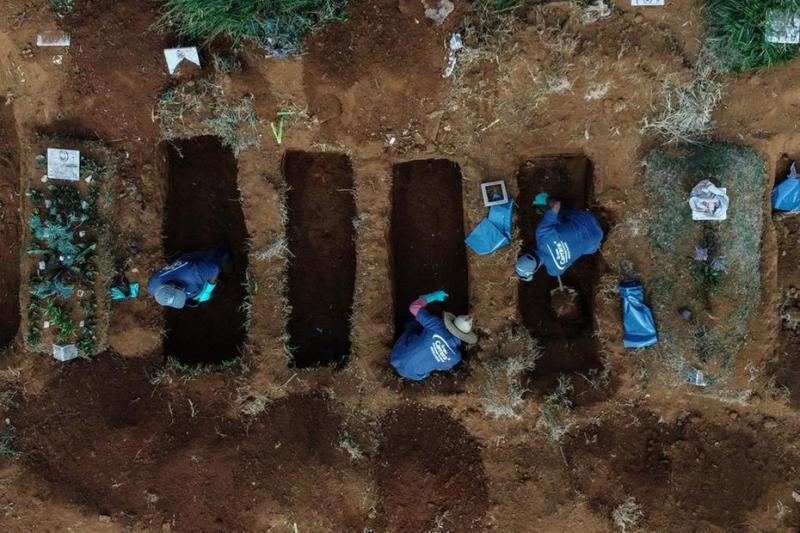 Brasil passa de 21 mil mortes e torna-se epicentro da Covid-19 no mundo