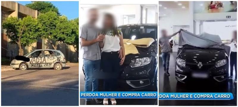 Marido traído, quebra carro, perdoa a esposa, a presenteia com carro novo e posta vídeo de entrega