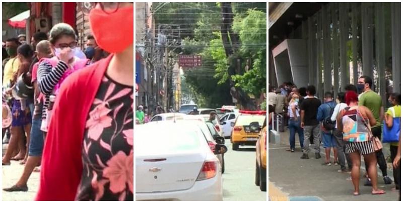 Centro de Teresina 'lota', tem trânsito e aglomerações em lojas