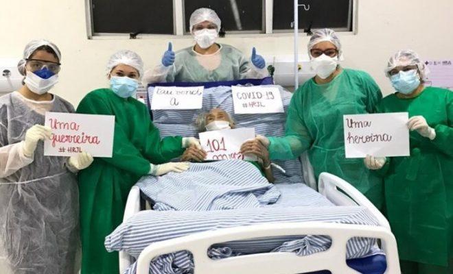 Idosa de 101 anos vence o novo coronavírus em hospital de Picos