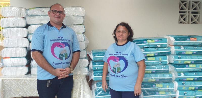 Abrigo dos Idosos de Picos recebe doação de fraldas descartáveis