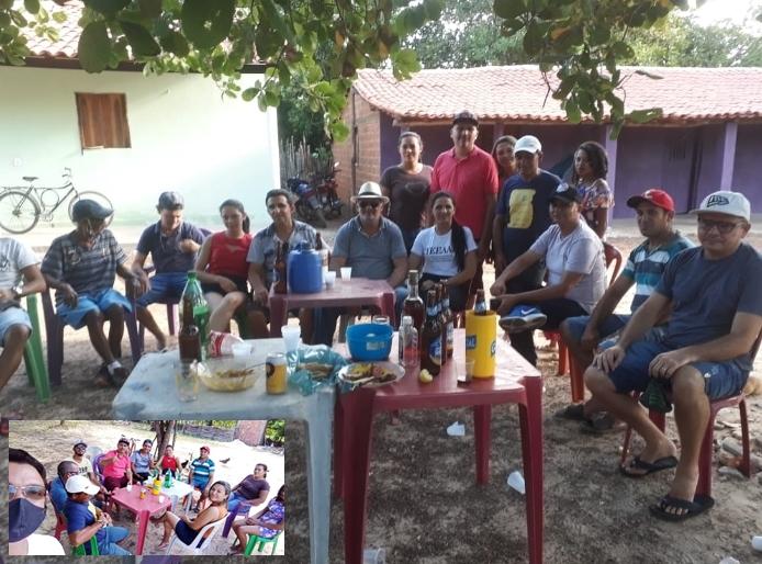 Pré-candidatos desrespeitam a quarentena, organizam e participam de churrasco em Sigefredo Pacheco