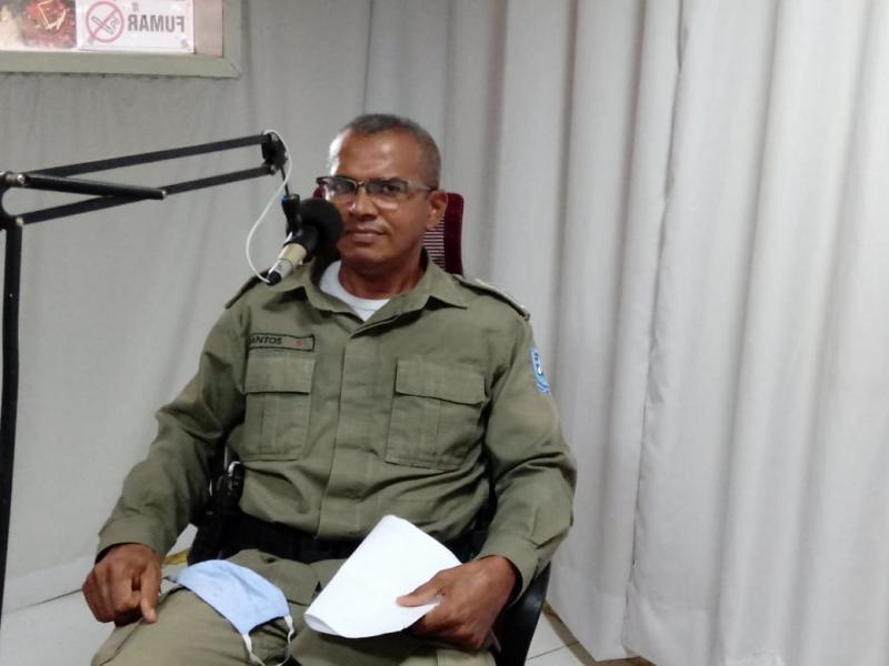Comandante Antônio  Santos é promovido por merecimento, a patente de Major da Policia Militar.