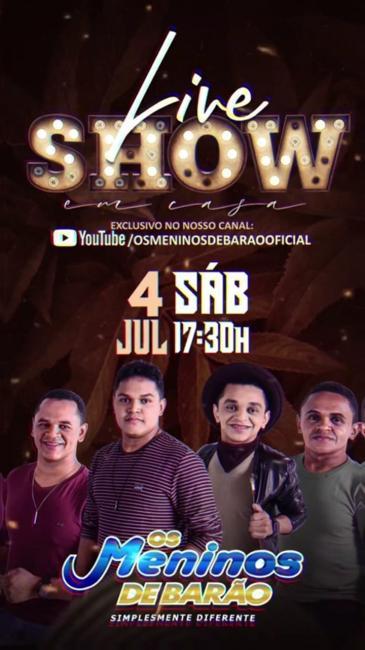 Os Meninos de Barão apresenta 'Live show em casa'; confira