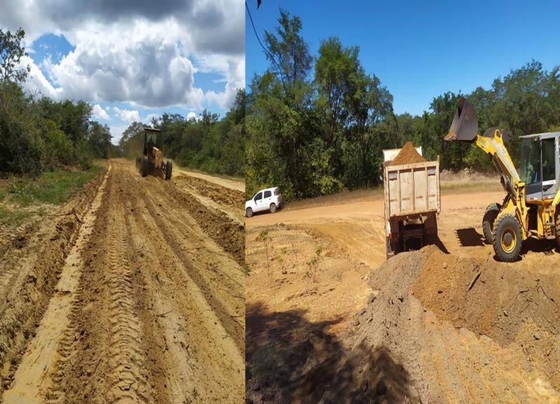 Sigefredo Pacheco: Prefeitura recupera estradas no município