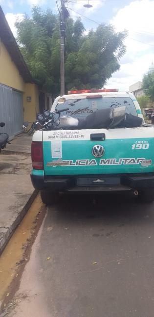 Polícia de Miguel Alves recupera moto furtada
