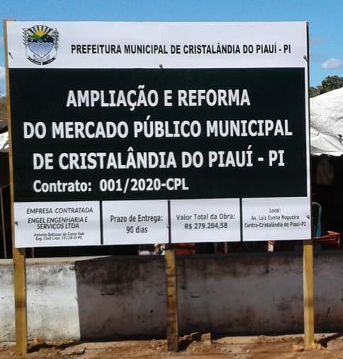 Prefeitura de Cristalândia inicia obra de ampliação e reforma do Mercado Público Municipal.