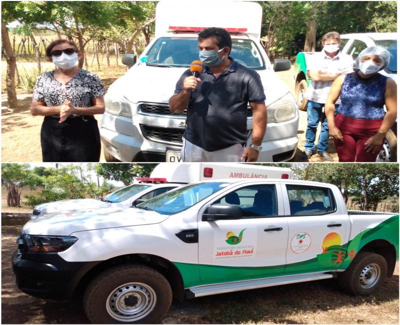 Prefeito Zé Carlos entrega uma caminhonete e uma ambulância pra Ubs da abilherinha