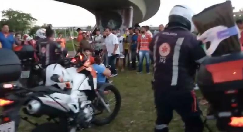 Pai e filhos ficam feridos após ele se jogar de viaduto no Nordeste