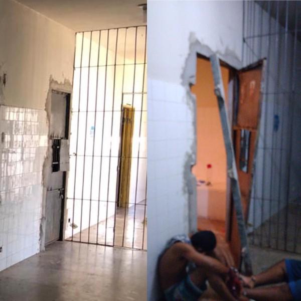 Presos com Covid-19 atacam policiais com foice em tentativa de fuga no Piauí
