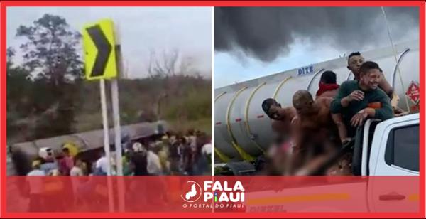Imagens fortíssimas: Caminhão explode enquanto pessoas tentam roubar combustível e deixa 11 mortos – Fala Piauí